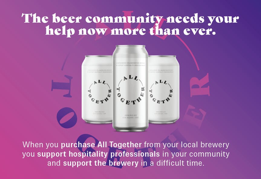Other Half Brewing Announces All Together Beer Worldwide Collaboration to Support Hospitality Industry
