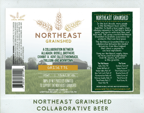 Northeast Grainshed beer a collaboration of New England breweries that share a passion to use local ingredients.