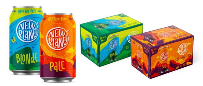 New Planet Beer Company Releases New Package Design for its Gluten-Free Beers