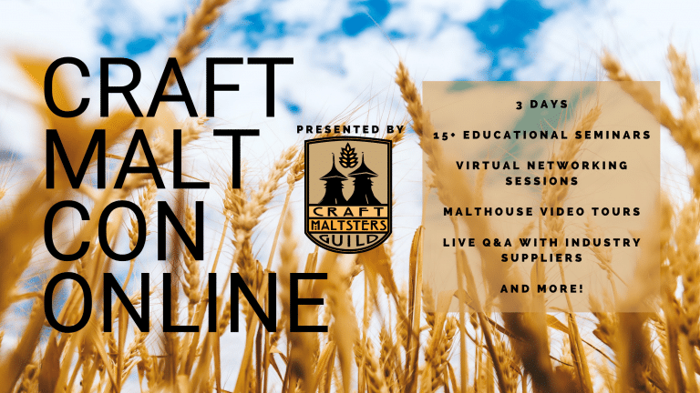 Craft Maltsters Guild Goes Virtual With 2021 Craft Malt Conference, February 10-12