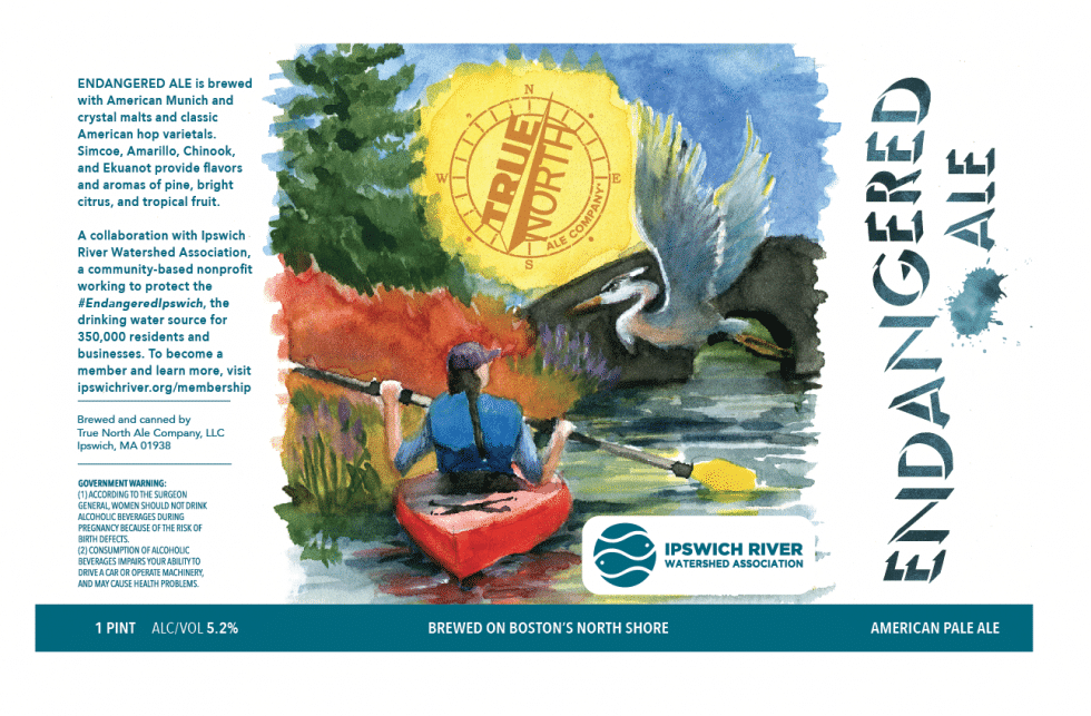 True North Ale Company Launches ENDANGERED ALE American Pale Ale in Collaboration with Ipswich River Watershed Association